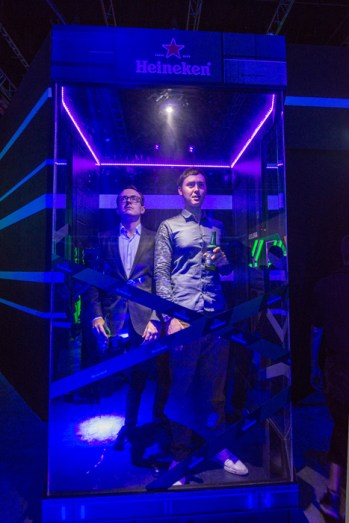 21. Heineken Green Room 2014 - The Transporter - Partygoers at the Cryopod