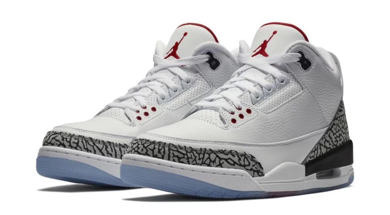 air jordans 3 white cement