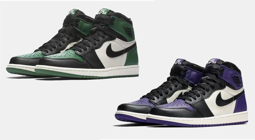 Nike anniversary week Air Jordan 1 Pine Green and Court Purple