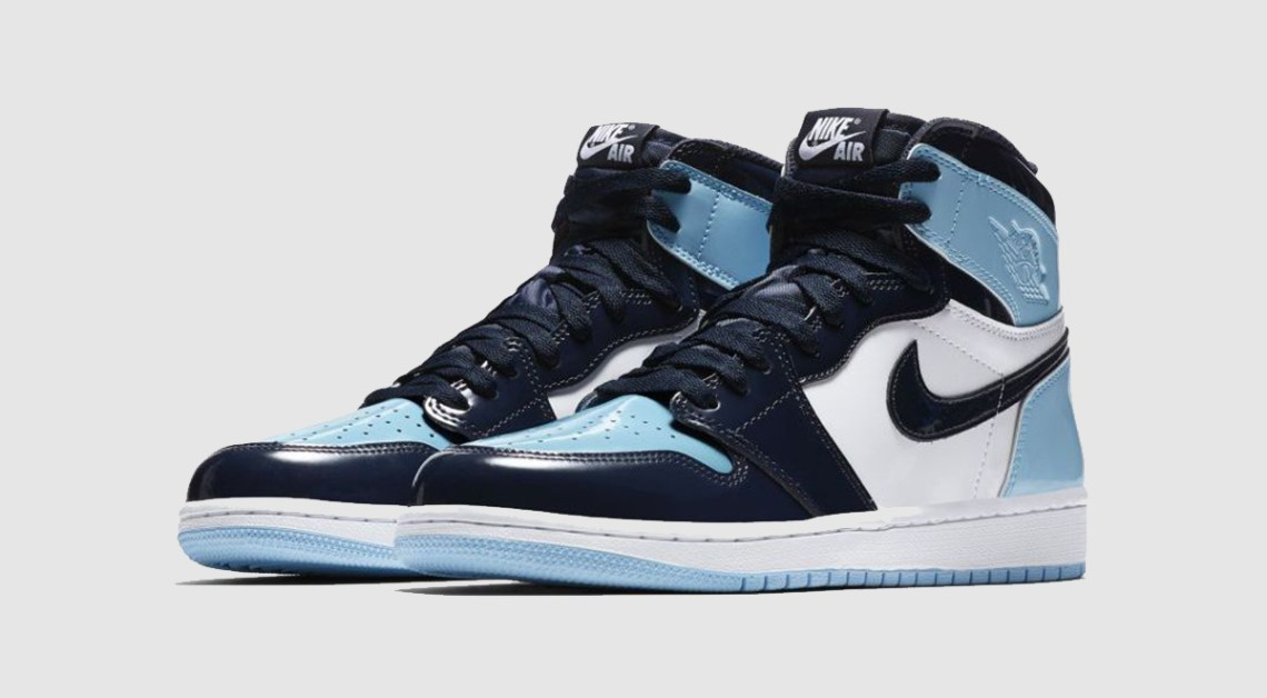 Air Jordan 1 Blue Chill patent leather unc