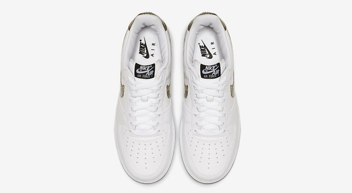 Nike Air Force 1 Low Ivory Snake overview details