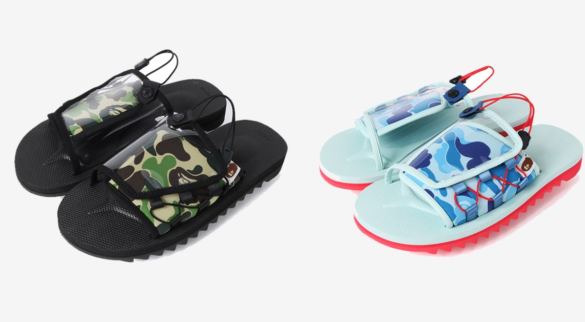may footwear drops Bape x suicoke