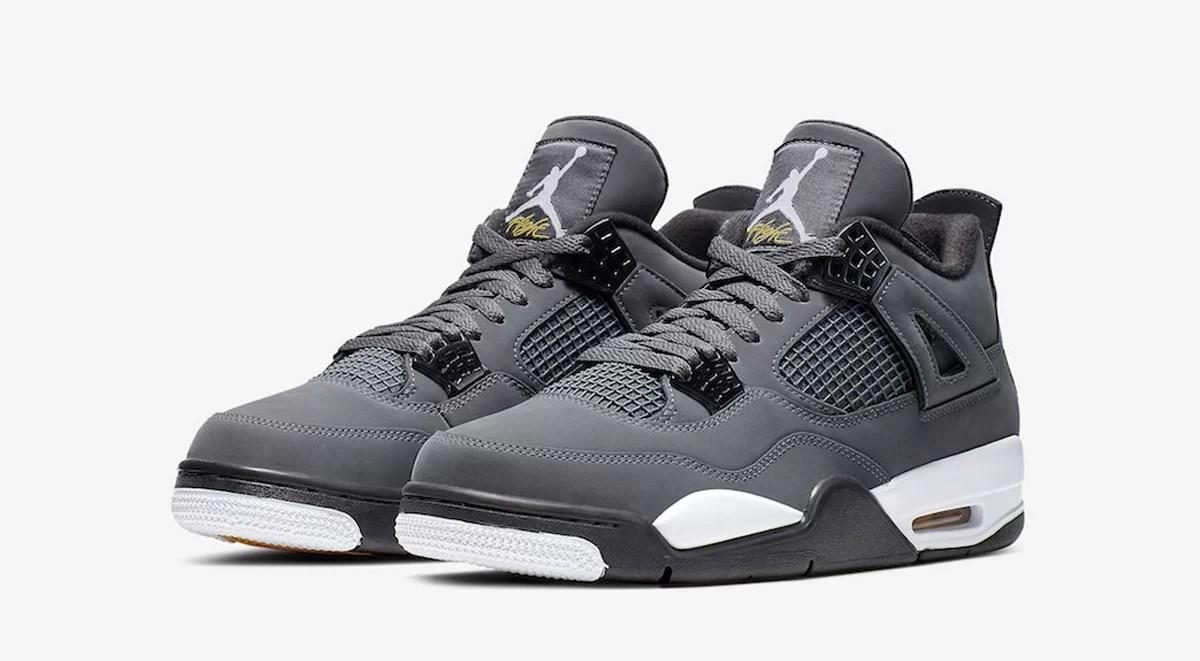 The Air Jordan 4 Retro Cool Grey Kicks
