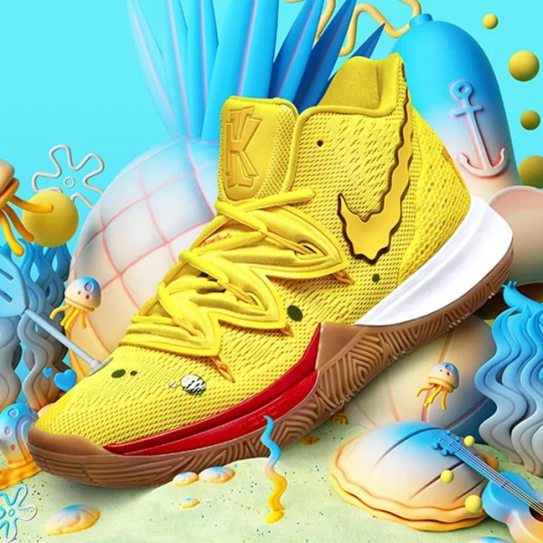 Are you ready, kids: SpongeBob SquarePants and Kyrie Irving team up for a Nike collection