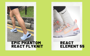 nike react review nike react element 55 and epic phantom react flyknit
