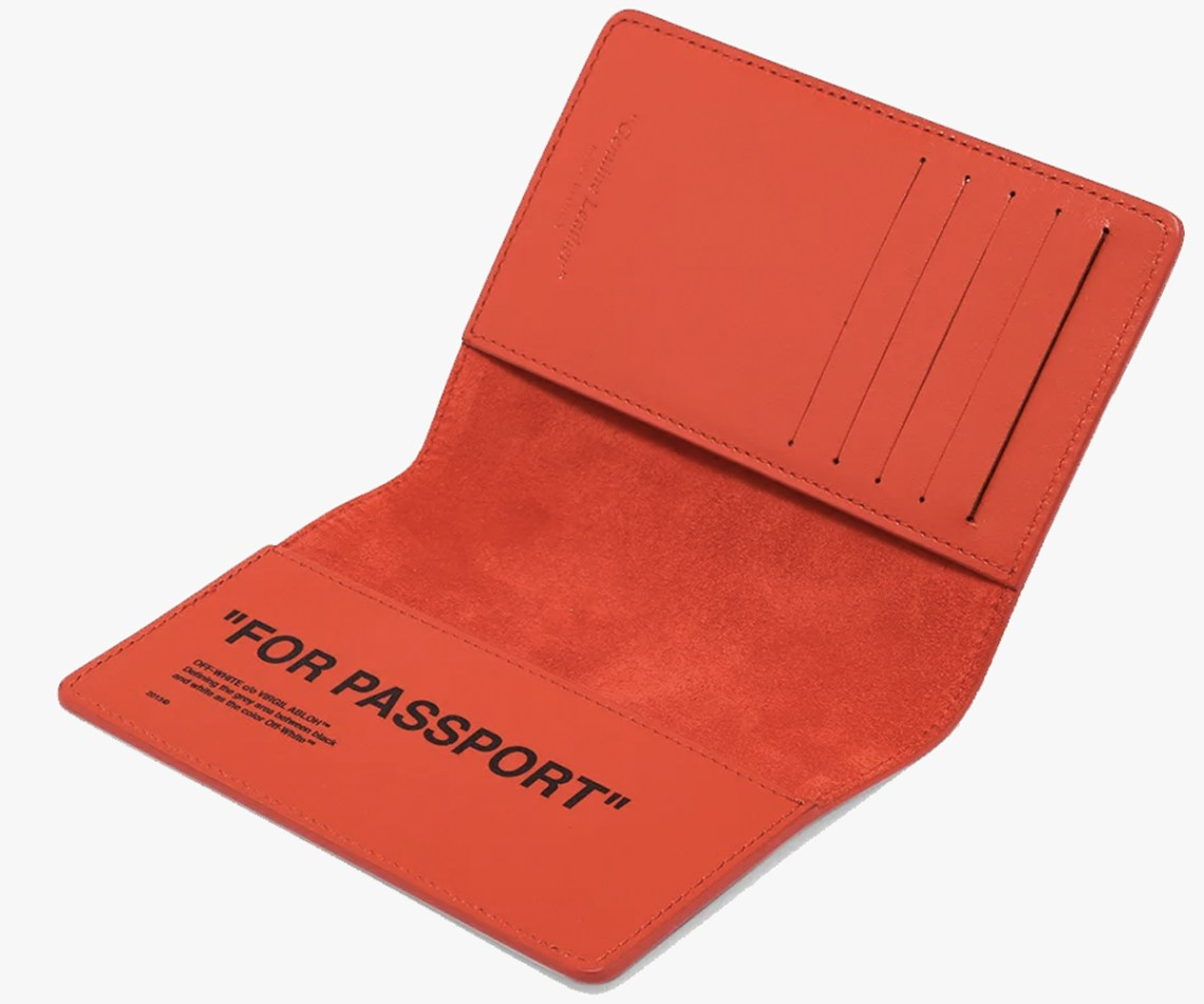 Christmas gift guide 2019 above 300 Off-White Quote Passport Holder