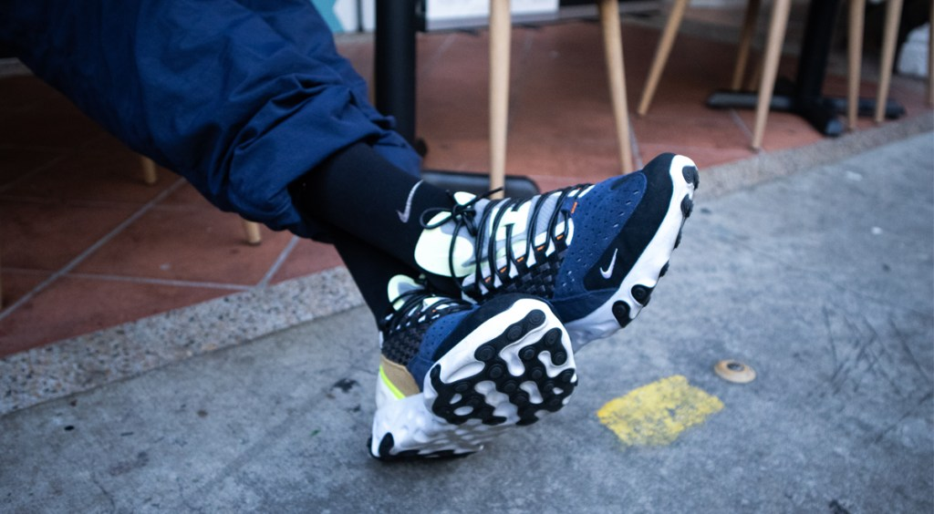 Patta Co-founder Edson Sabajo Nike React On Feet