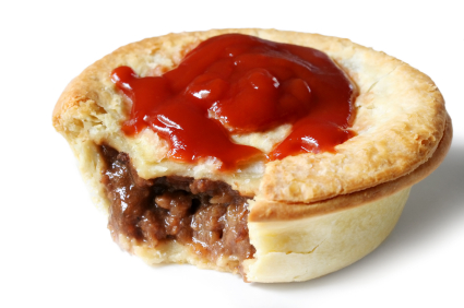Aussie Meat Pie and Sauce