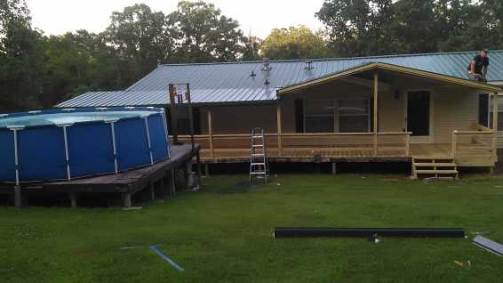 Metal Roof Addition 17