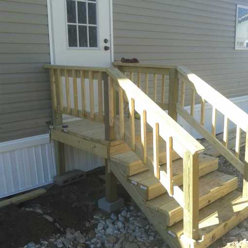 Mobile Home Install w-Porch After 1