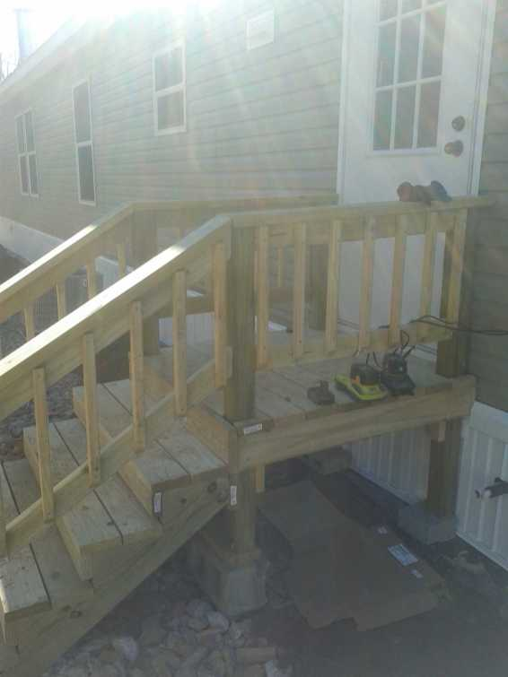 Mobile Home Install w-Porch After 2