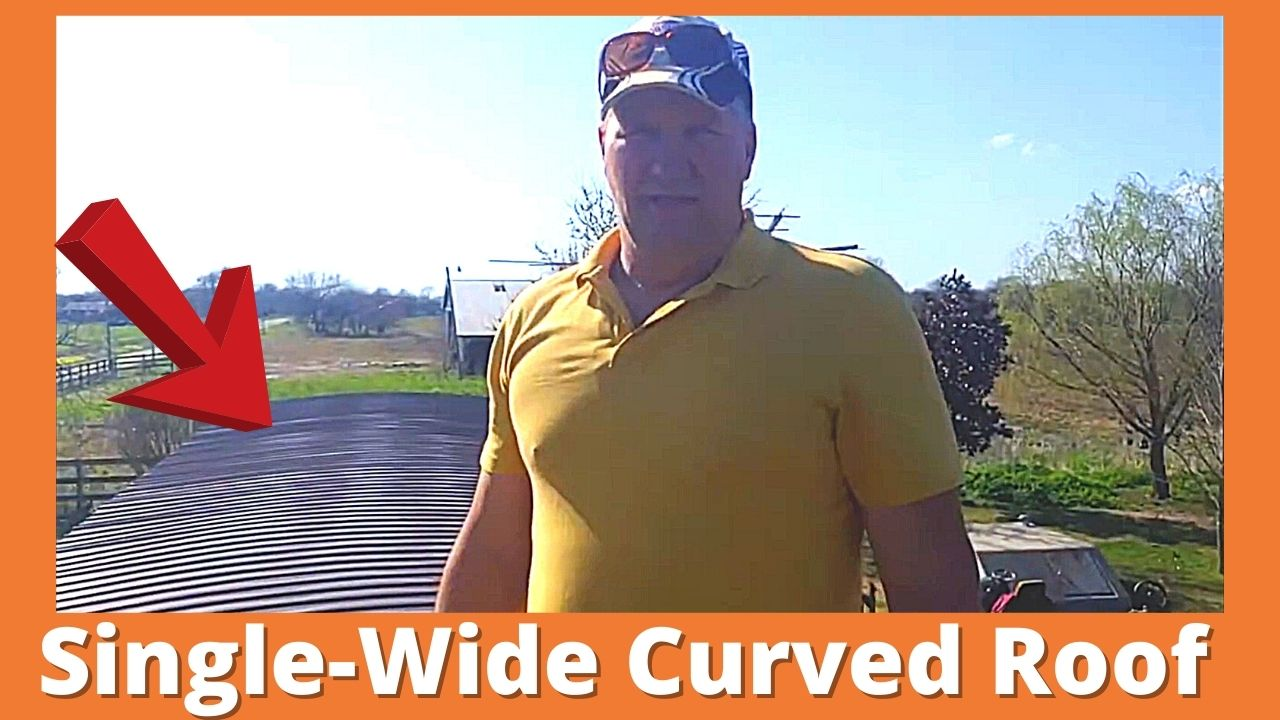 Curved Metal Roof Mobile Home