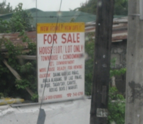 """""""New Home! New Life"""" sign in the Philippines"""