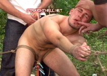 #classic — Nicholas Gets Roped Outside & Fucked by Multiple Cocks