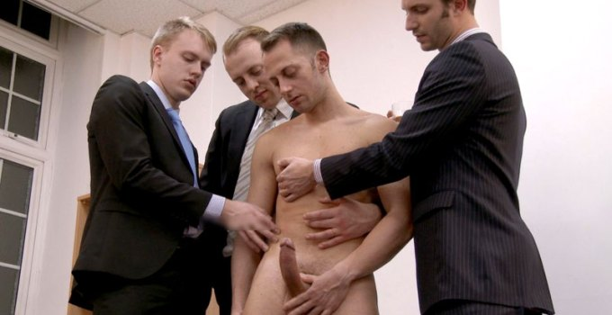 #CMNM: Huge Cock Beta Forced To Wank For His Boss
