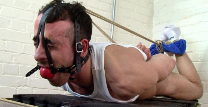 Muscle-boy Jamie is Subdued and Anally Violated