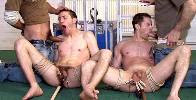 #Classic: Agonizing Endurance Trial for Naked Slaves Pierce and Ed