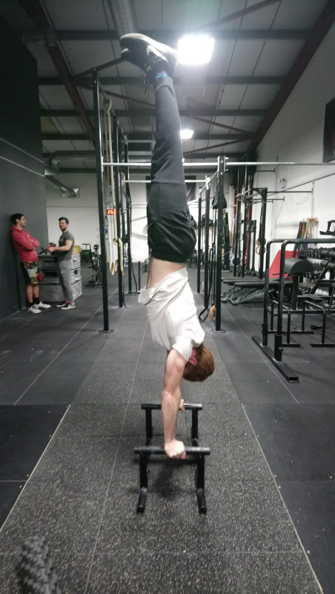 Parallette handstand old line March 2018