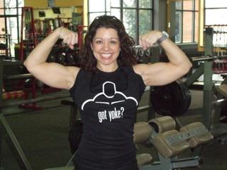 Mandy Stafford in Straight to the Bar 'Got Yoke?' T-shirt