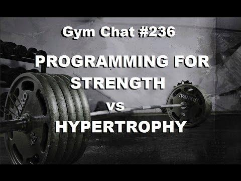 Video for Gymchat 236 – Programming for Strength vs Hypertrophy (Jason Paris)