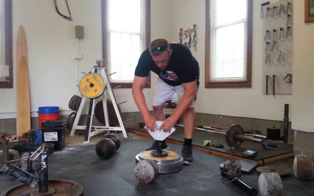 100kg Two Hands Flask Pinch Lift (Jedd Johnson)