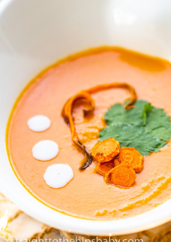 Thai Inspired Coconut Carrot Soup