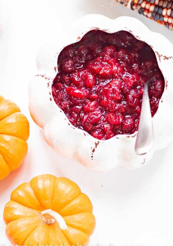 New England Orange Cranberry Sauce with Maple Syrup