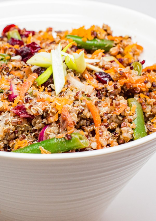 Quinoa Salad with Sweet Balsamic Dijon Dressing