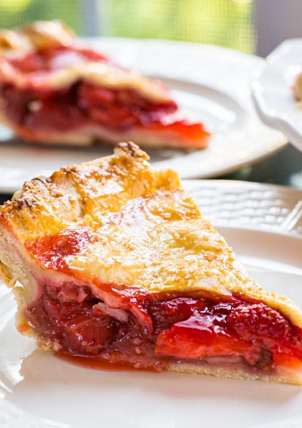 Rustic Strawberry Pie