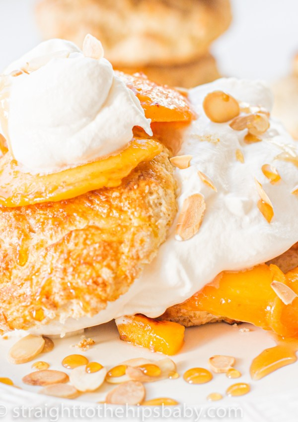 Peach Shortcake with Honey Whipped Cream
