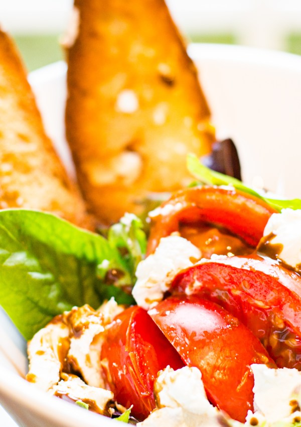 Warm Tomato Salad with Goat Cheese