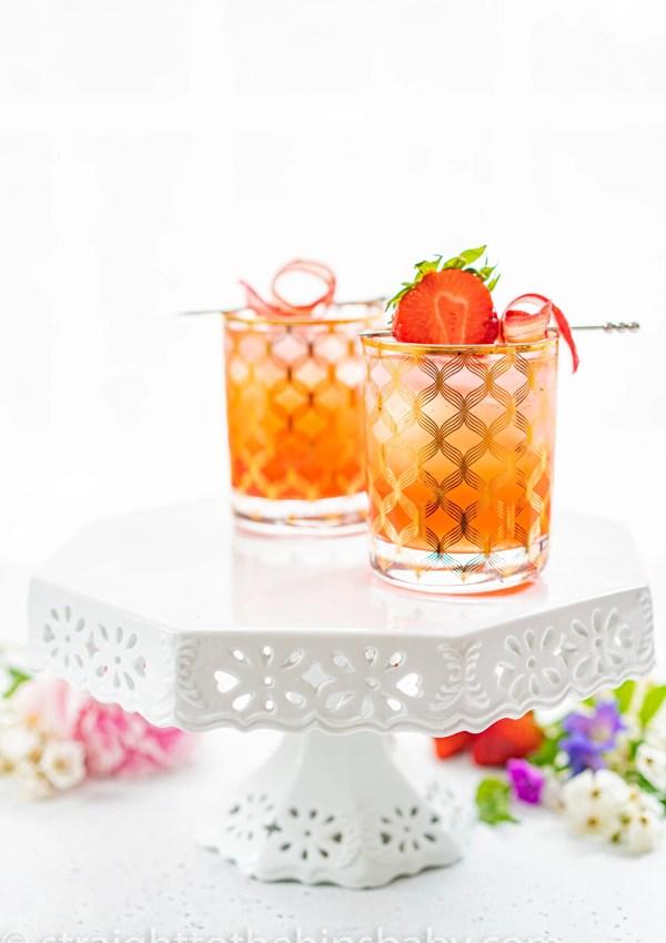 Rhubarb Vodka Shrub Cocktail
