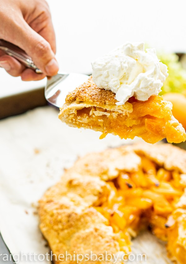Apricot Galette with Elderflower Whipped Cream