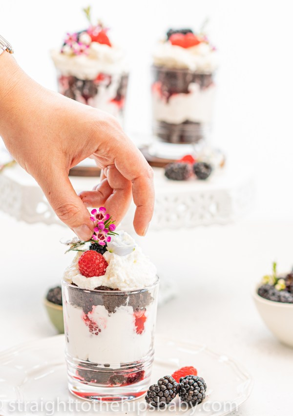 Luxurious Chocolate Trifle with Raspberries and Champagne Cream