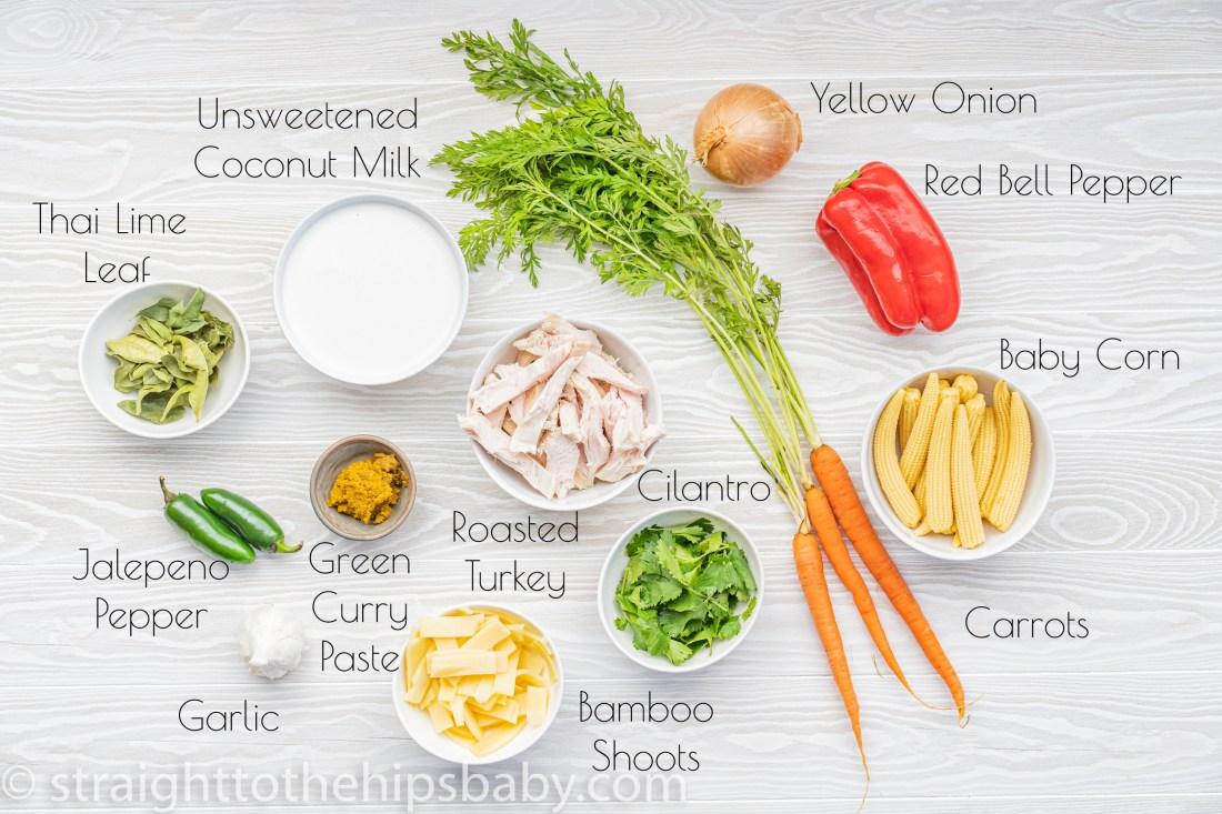 ingredient flat lay