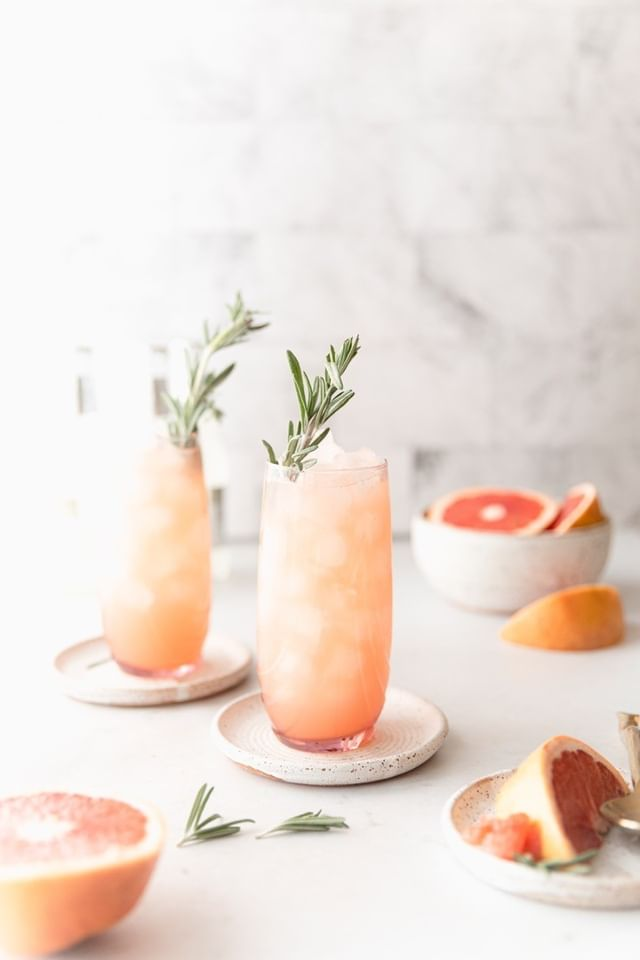 2 pink grapefruit rosemary mules