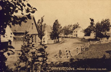 Orwell Cove. Warwick Bros. & rutter card # 5255. photo by W.S. Louson. collection of the PEI Museum and Heritage Foundation.