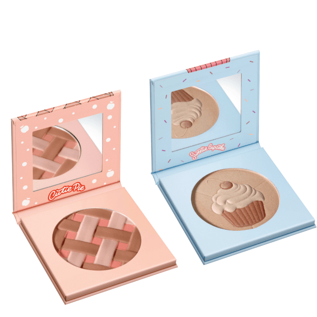 misslyn cutie pie bronzing blush ready to crumble + misslyn sweetie cupcake trio highlighter sugar rush