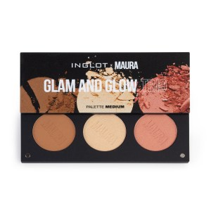inglot x maura glam and glow trio palette medium