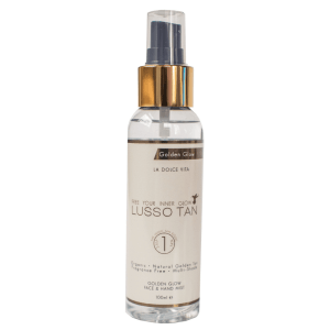 lusso tan golden glow face and hand mist