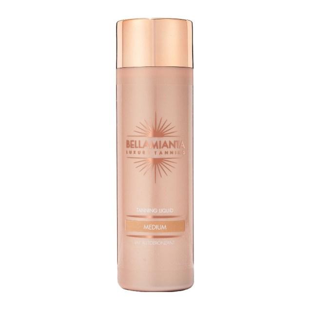 bellamianta medium liquid gold tanning liquid
