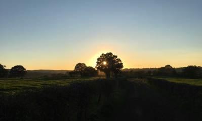 Sonnenuntergang bei Eupen