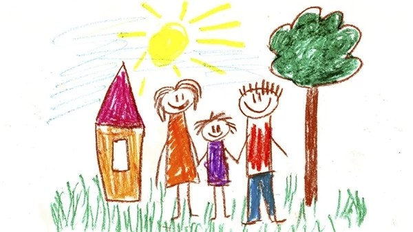 Как нарисовать семью — мама, папа, я (дочка или сын ...