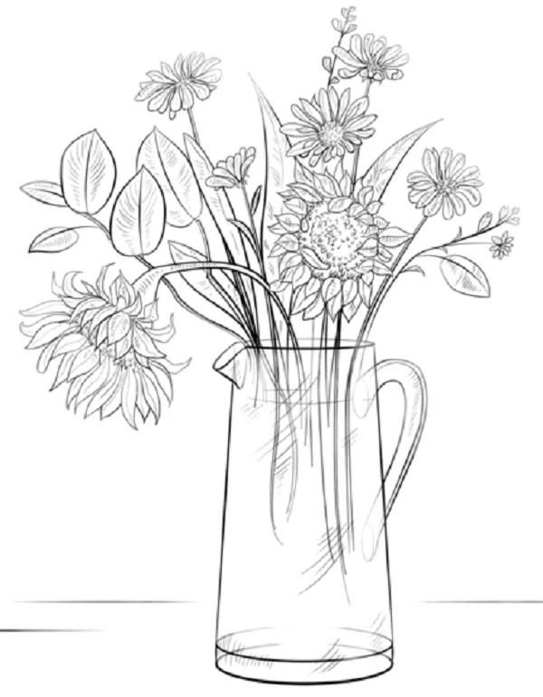 среди рисунки красивых ваз карандашом случае