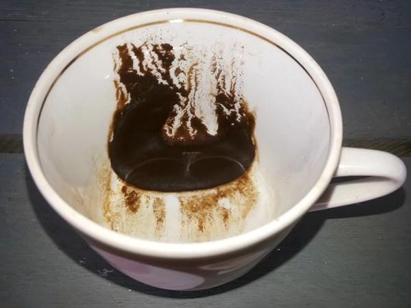без картинки гуща кофе сначала