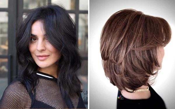Стрижка каскад для волос средней длины: 3 варианта ...