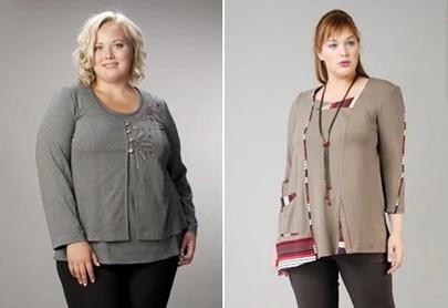 Модные блузки и свитера для полных, осень-зима 2014-2015, фото