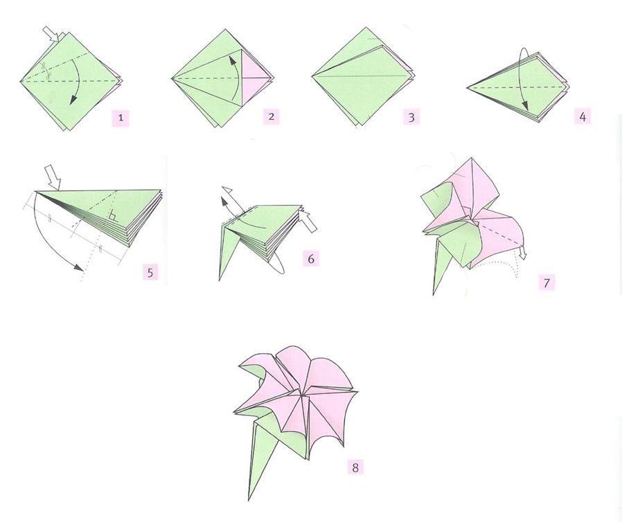 Веселые, открытки к 8 марта из оригами