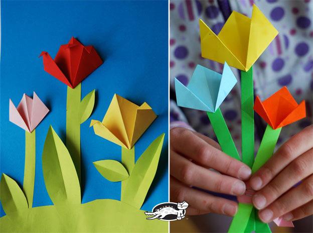Оригами для 8 марта открытки, поздравление рождеством 2017