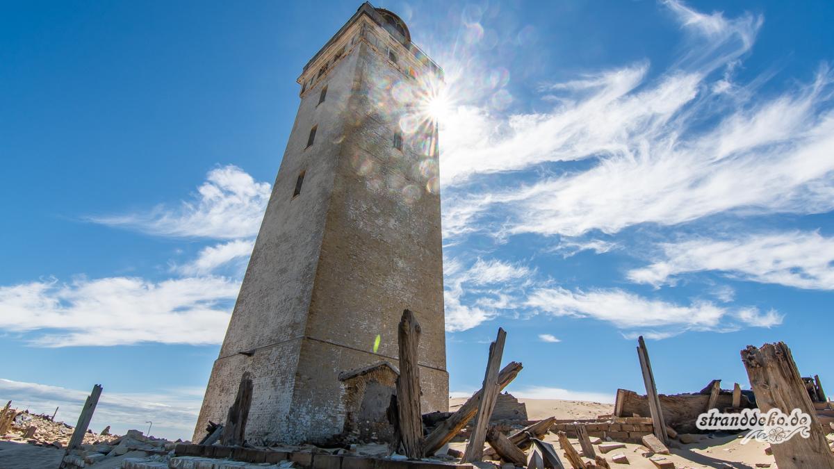 Im Norden Dänemark Løkken Und Der Versandete Leuchtturm Stranddeko